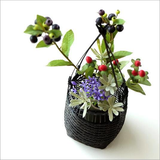 花入れ 和風 竹かご 竹筒 花挿し 花器 和風 竹籠花入れ 丸