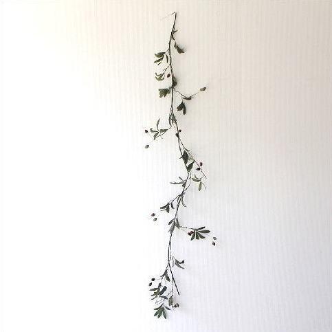 フェイクグリーン 壁飾り 壁掛けインテリア ナチュラル リース ウォールデコレーション フェイクオリーブのガーランド [swa3587]