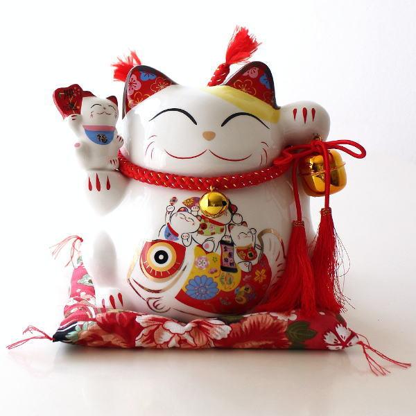 招き猫 貯金箱 置物 オブジェ ネコ 陶器 かわいい インテリア ビッグな招き猫の貯金箱 開運 [swa3796]