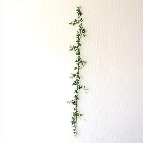 フェイクグリーン 壁飾り 壁掛けインテリア ナチュラル リース ウォールデコレーション フェイクメープルアイビーのガーランド [swa3856]