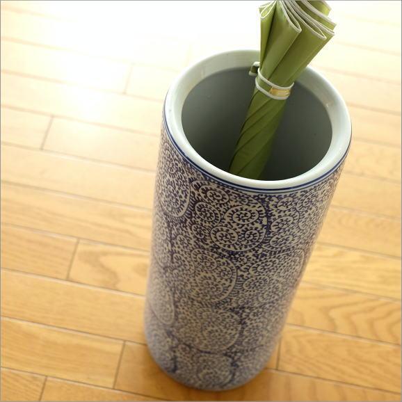 陶器の傘立て 蛸唐草 [swa7478]
