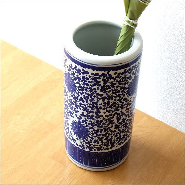 陶器の傘立 洋蓮 [swa9569]