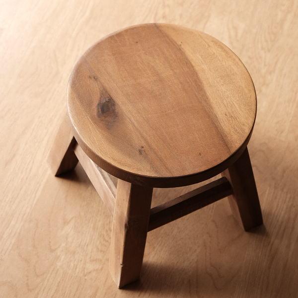 スツール 木製 子供 椅子 おしゃれ ミニスツール 小さい ウッドスツール 丸椅子 子供用 かわいい 無垢材 花台 ミニテーブル 子供イス プレーン [tom0947]