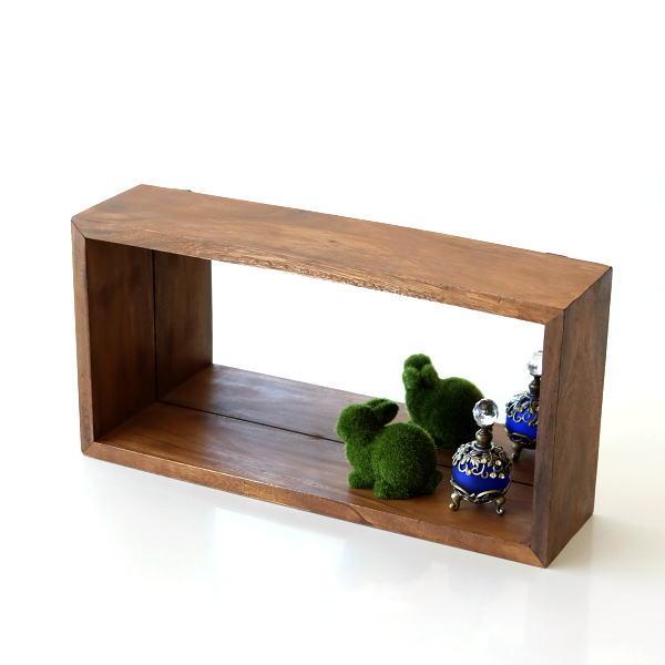 鏡 壁掛けミラー ウォールミラー 木製 ウッド おしゃれ 横長 長方形 角型 棚 シェルフ シンプル 壁掛ミラーボックス [tom1294]