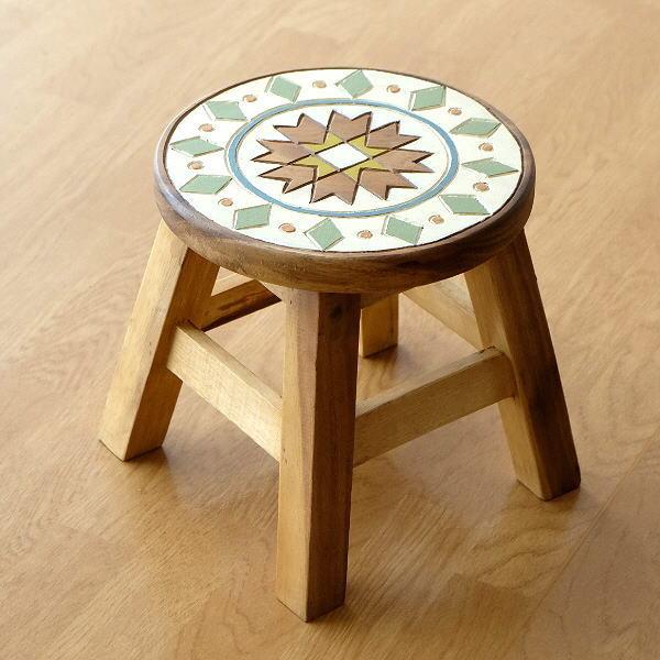 子供椅子 モザイク [tom1524]