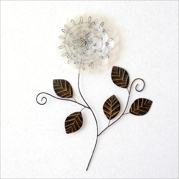 カピスレリーフの壁飾り 1輪花 [tom3772]