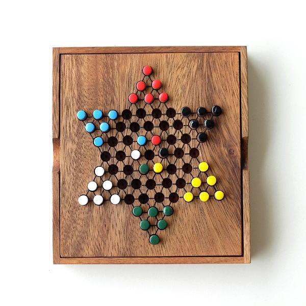 ウッドパズル ダイアモンドゲーム [tom4496]