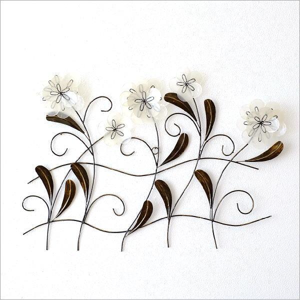 カピスレリーフの壁飾り 5輪花