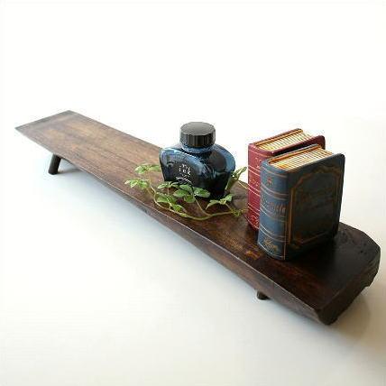 チークトレー 天然木 ディスプレイスタンド インテリアトレイ 木製 無垢 アジアン雑貨 棚 飾り台 シンプルなチークの棚