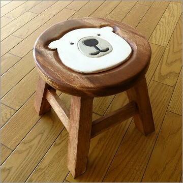 子供椅子 白くまくん [tom8573]
