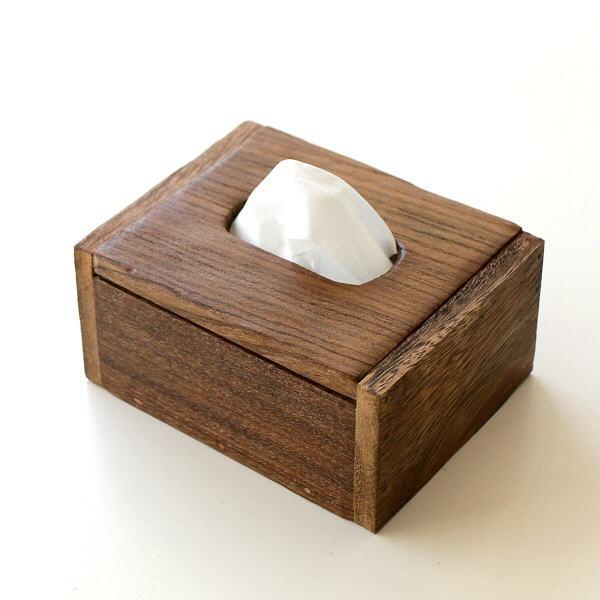 ティッシュケース チーク 木製 ハーフサイズ ポケットティッシュ ボックス オールドチークのミニティッシュボックス [tom8966]