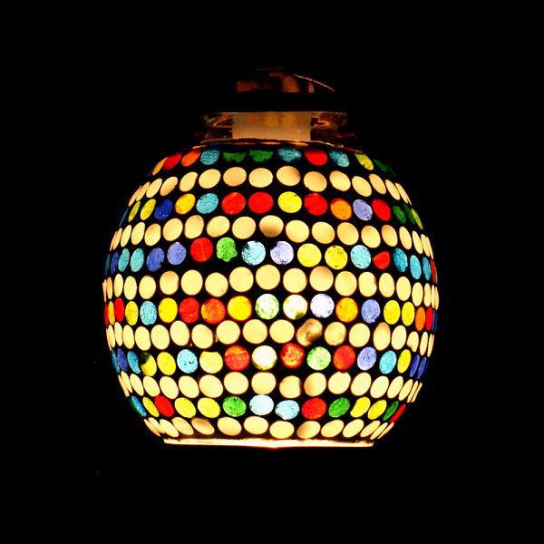 ペンダントライト ガラス おしゃれ かわいい 可愛い モザイク 1灯 シーリングライト 天井照明 トイレ キッチン モザイクハンギングランプ ラインドット [tom9989]