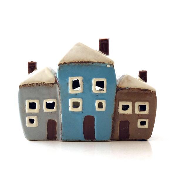 キャンドルハウス 陶器 キャンドルホルダー おうち 家 おしゃれ かわいい ハウス型 陶器のメルヘンハウスA [toy0715]