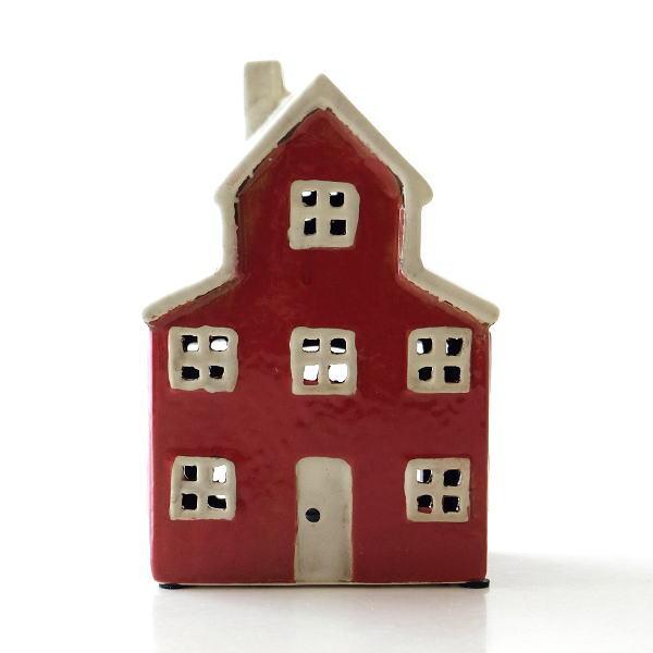 キャンドルハウス 陶器 キャンドルホルダー おうち 家 おしゃれ かわいい ハウス型 陶器のメルヘンハウスB [toy0717]