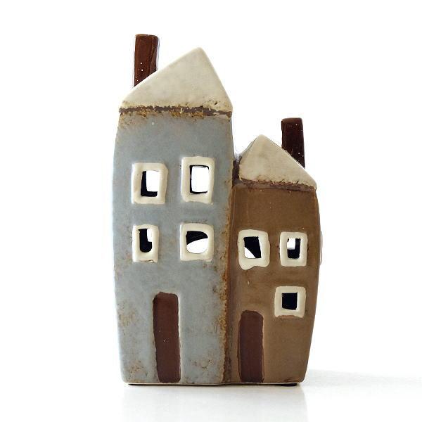 キャンドルハウス 陶器 キャンドルホルダー おうち 家 おしゃれ かわいい ハウス型 陶器のメルヘンハウスC [toy0718]