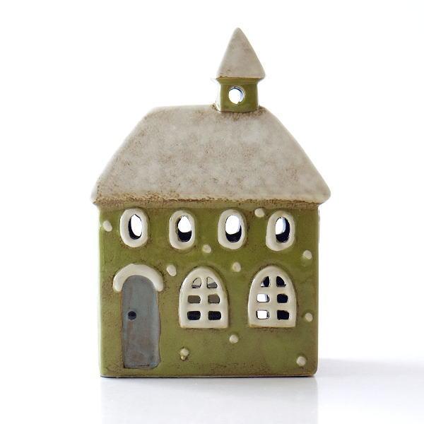 キャンドルハウス 陶器 キャンドルホルダー おうち 家 おしゃれ かわいい ハウス型 陶器のメルヘンハウスD [toy0719]