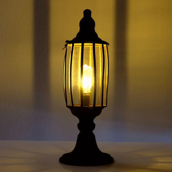 ランプ ランタン LED ヴィンテージ アンティーク アイアン ガラス おしゃれ シャビー レトロ ヴィンテージランプ A [toy0869]