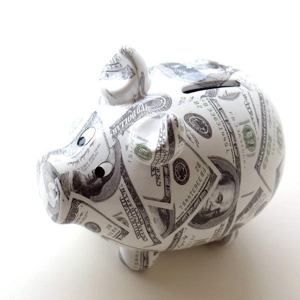 貯金箱 かわいい おしゃれ 陶器 ぶた 豚 可愛い 動物 アニマル インテリア オブジェ 置物 陶器のカラフル貯金箱 マネーブタ [toy0911]