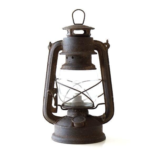 ランプ ランタン LED ヴィンテージ アンティーク アイアン ガラス おしゃれ シャビー レトロ ヴィンテージランプB [toy2780]