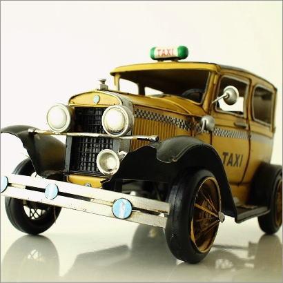 ブリキのおもちゃ 置物 インテリアオブジェ アンティーク レトロ 雑貨 American Nostalgia タクシー 【送料無料】 [toy29455]