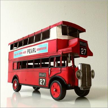 ブリキのおもちゃ 置物 置き物 インテリアオブジェ アンティーク レトロ 雑貨 American Nostalgia ロンドンバス【送料無料】 [toy43157]