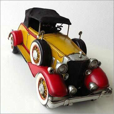 ブリキのおもちゃ 置物 置き物 インテリアオブジェ アンティーク レトロ 雑貨 American Nostalgia クラシックカー【送料無料】 [toy43196]