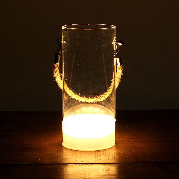 花瓶 おしゃれ ガラス フラワーベース LED ライト ゴールド 透明 クリア スタイリッシュ モダン シンプル LED付きハンドルガラスベースA [toy4441]