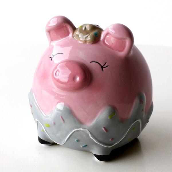 貯金箱 かわいい おしゃれ 陶器 ぶた 豚 可愛い 動物 アニマル インテリア オブジェ 置物 カラフル貯金箱 ブタ [toy4685]