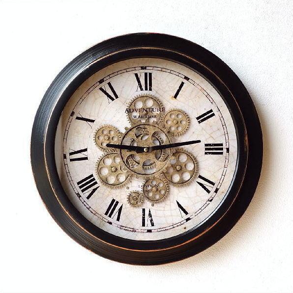 アイアンの掛け時計 ギアーA 【送料無料】