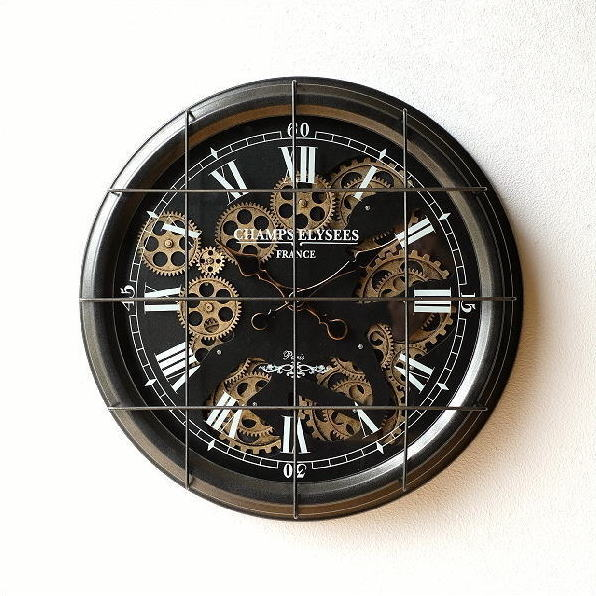 アイアンの掛け時計 ギアーB 【送料無料】