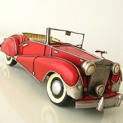 ブリキのおもちゃ 置物 インテリアオブジェ アンティーク レトロ 雑貨 American Nostalgia クラシックオープンカー [toy54456]