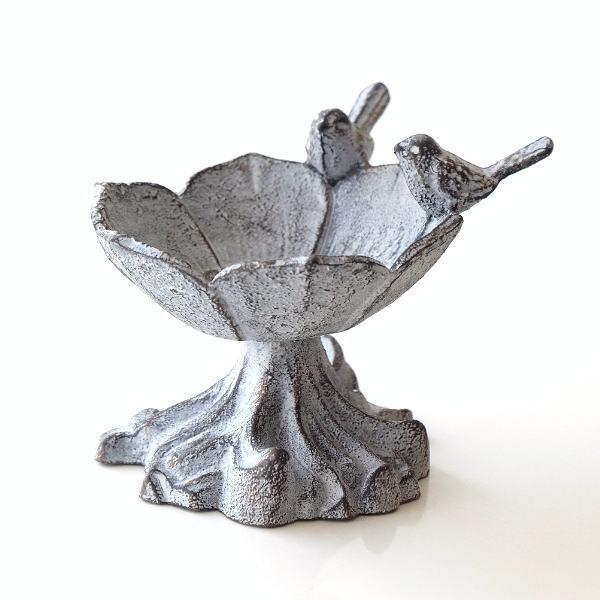 バードフィーダー 鳥の餌台 かわいい レトロ アンティーク デザイン 小物入れ 花台 トレイ 小さい おしゃれ フラワーカップのバードフィーダー [toy5573]
