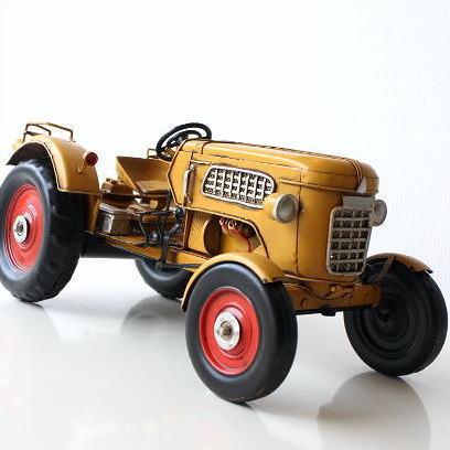 ブリキのおもちゃ 車 レトロ アンティーク 置物 インテリアオブジェ アイアン 鉄 American Nostalgia トラクター 【送料無料】 [toy57600]