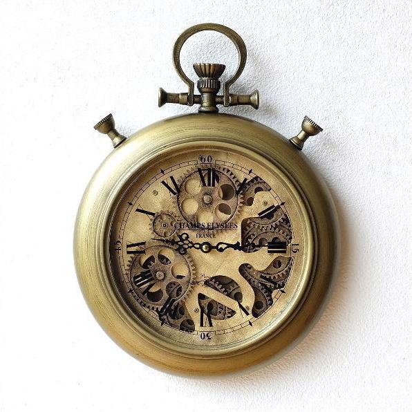 壁掛け時計 おしゃれ アンティーク レトロ クラシック ヨーロピアン 北欧 カフェ かっこいい モダン アイアンの掛け時計 ギアーC [toy6599]