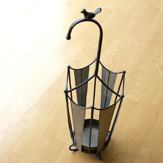傘立て おしゃれ アイアン スチール シャビー レトロ アンティーク 傘 鳥 デザイン かわいい アンブレラスタンド アイアン傘たて アンブレラ [toy6688]