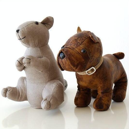 ドアストッパー ぬいぐるみ 室内 布製 おしゃれ かわいい いぬ イヌ 犬 リス りす オブジェ 戸当たり ソフトなドアストッパーB 2タイプ [toy7033]
