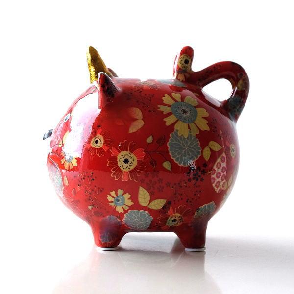 陶器のカラフル貯金箱 ネコ [toy7370]