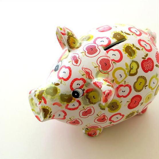 貯金箱 かわいい 陶器 ブタ 豚 オブジェ 置物 可愛い 動物 アニマル インテリア 陶器のカラフル貯金箱 ブタ [toy8288]