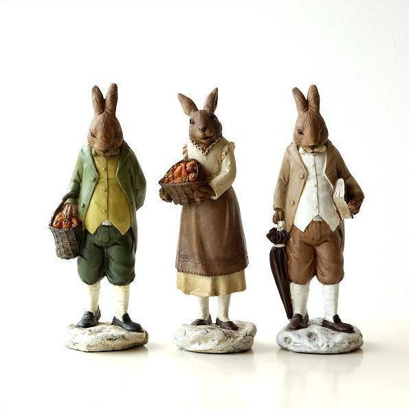 ウサギ 雑貨 置物 うさぎのオブジェ 3タイプ [toy9294]