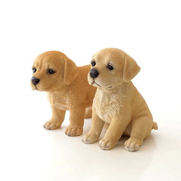 犬 置物 オブジェ アニマル ドッグオーナメント ガーデンオーナメント インテリア イヌ いぬ ペット 動物  子犬のオーナメント 2タイプ [toy9490]