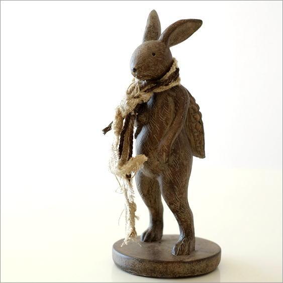 ウサギのオブジェ 旅人M