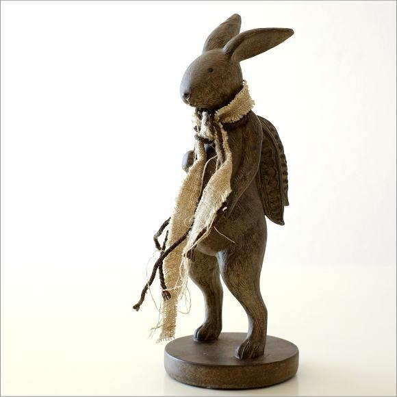 ウサギのオブジェ 旅人L
