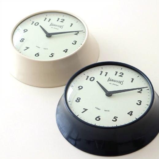 掛け時計 モダン おしゃれ カフェ シンプル かわいい インテリア ナチュラル レトロ 丸 デザイン ハンズウォールクロック 2カラー