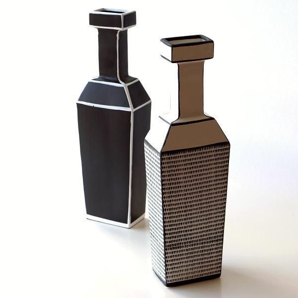花瓶 陶器 セラミック フラワーベース おしゃれ モダン 北欧 ボトル 縦長 細長い セラミックベース 2タイプ [tsc5780]