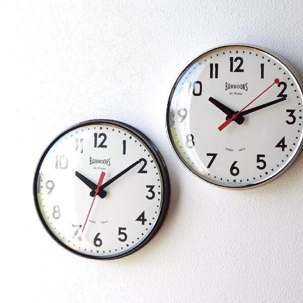 壁掛け時計 掛け時計 おしゃれ 音がしない 静音 かっこいい スタイリッシュ レトロ シンプル スイープムーブメント ウォールクロック レッドポインター2カラー [tsc7854]