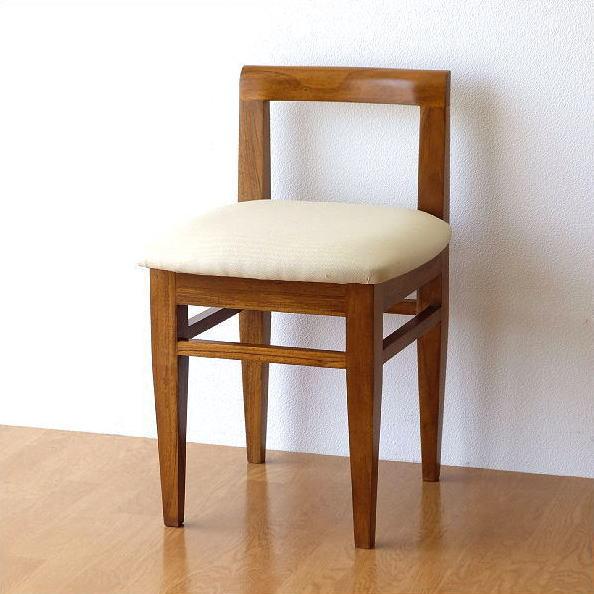 椅子 チーク 無垢材 背もたれ低い 天然木 チークコンパクトチェアー 【送料無料】 [wat1932]