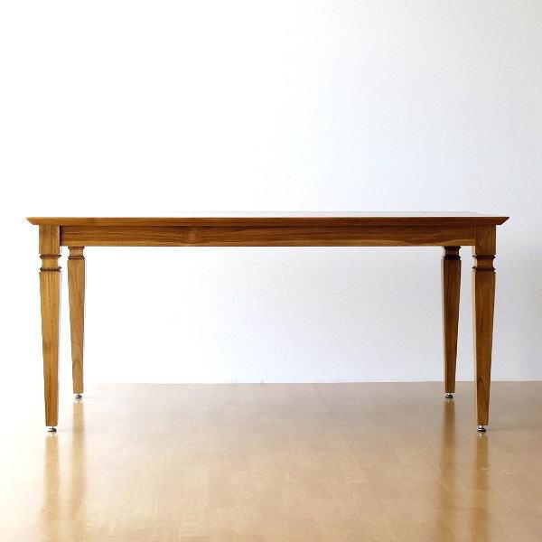 ダイニングテーブル チーク 無垢材 天然木 幅160 奥行90 チークダイニングテーブル160 【開梱組立設置送料無料】 [wat3448]