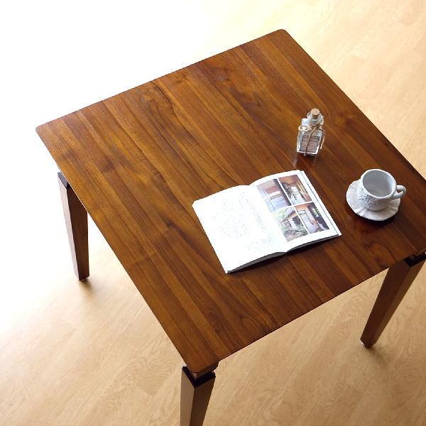 ダイニングテーブル チーク 無垢材 幅80×80 正方形 チークダイニングテーブル80 【送料無料】 [wat3984]