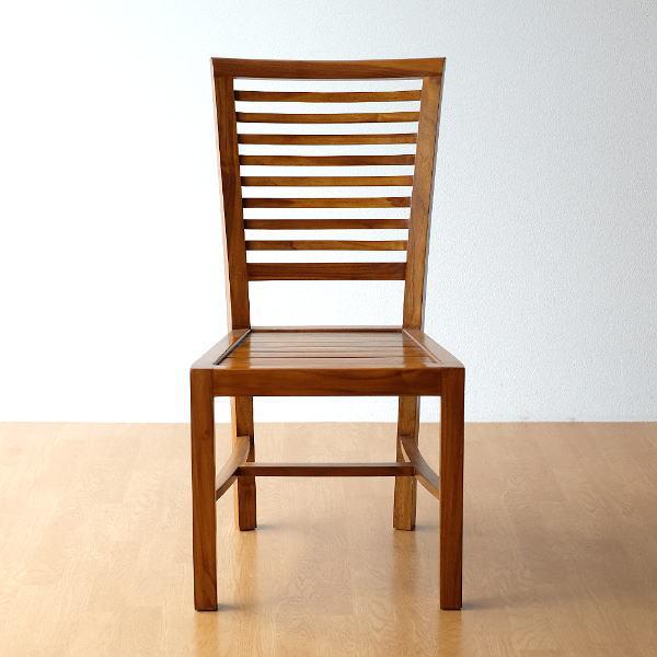 ダイニングチェア チーク 無垢材 椅子 天然木 チークチェアー 【送料無料】 [wat4952]