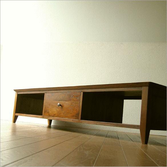 テレビ台 テレビボード ロータイプ 低い 木製 無垢 アジアン家具 完成品 チークローボード150Low【送料無料】